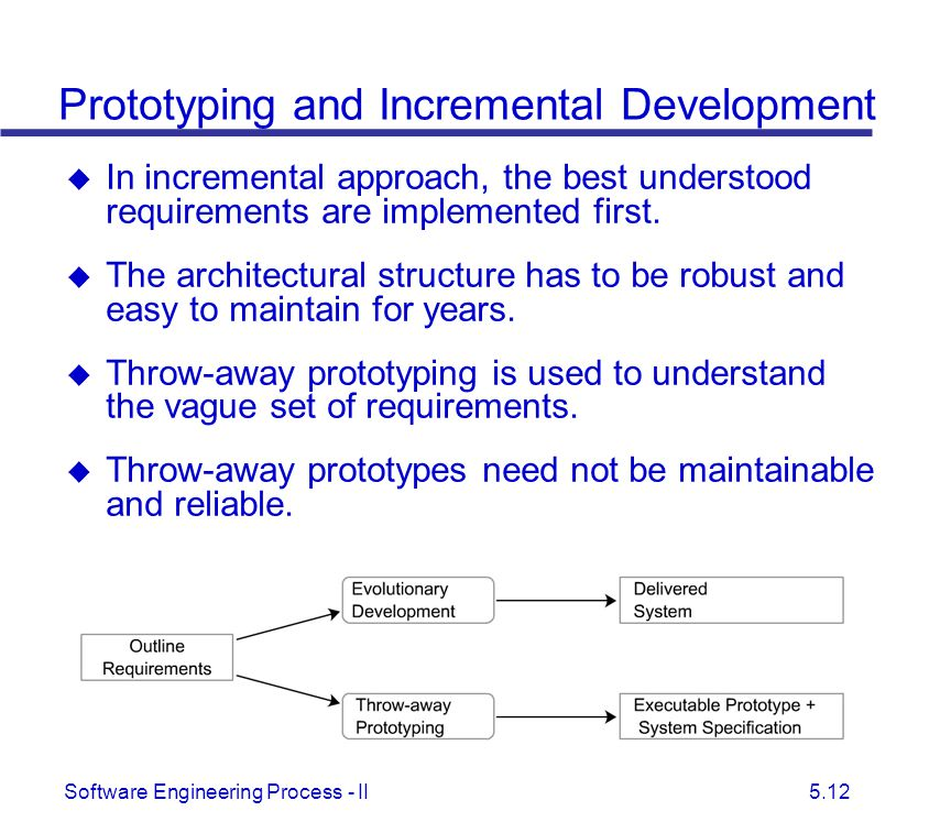 Prototyping and Incremental Development