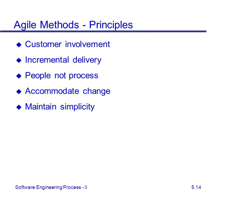 Agile Methods - Principles