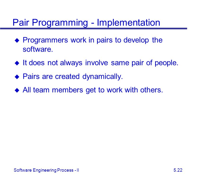 Pair Programming - Implementation