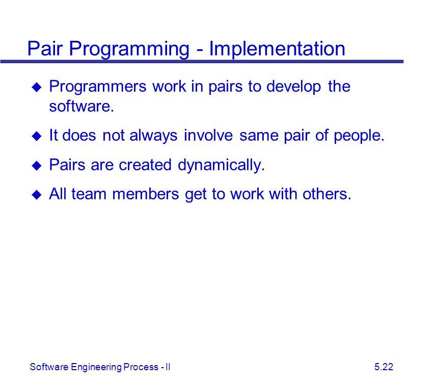Pair Programming - Implementation