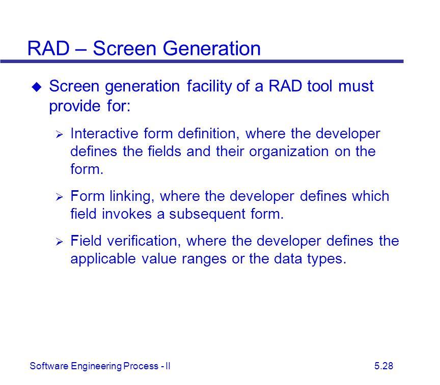 RAD – Screen Generation