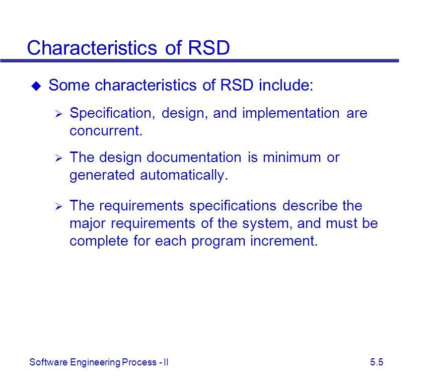 Characteristics of RSD