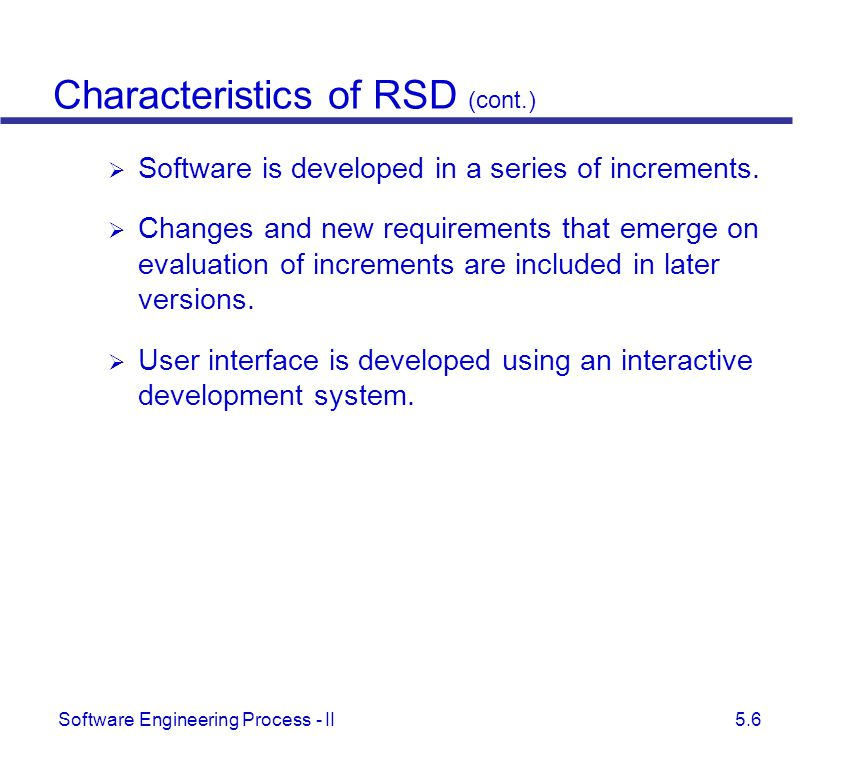 Characteristics of RSD (cont.)