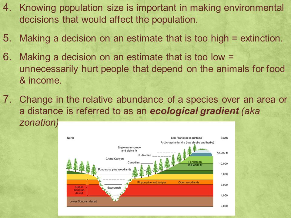 Knowing population size is important in making environmental decisions that would affect the population.