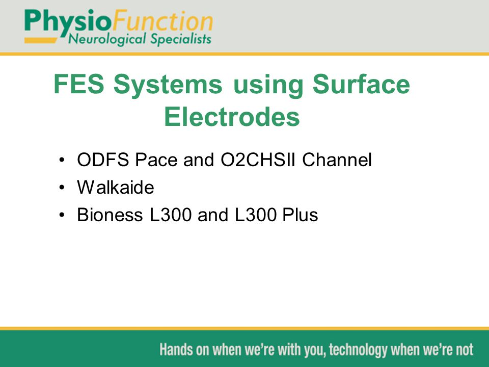 FES Systems using Surface Electrodes
