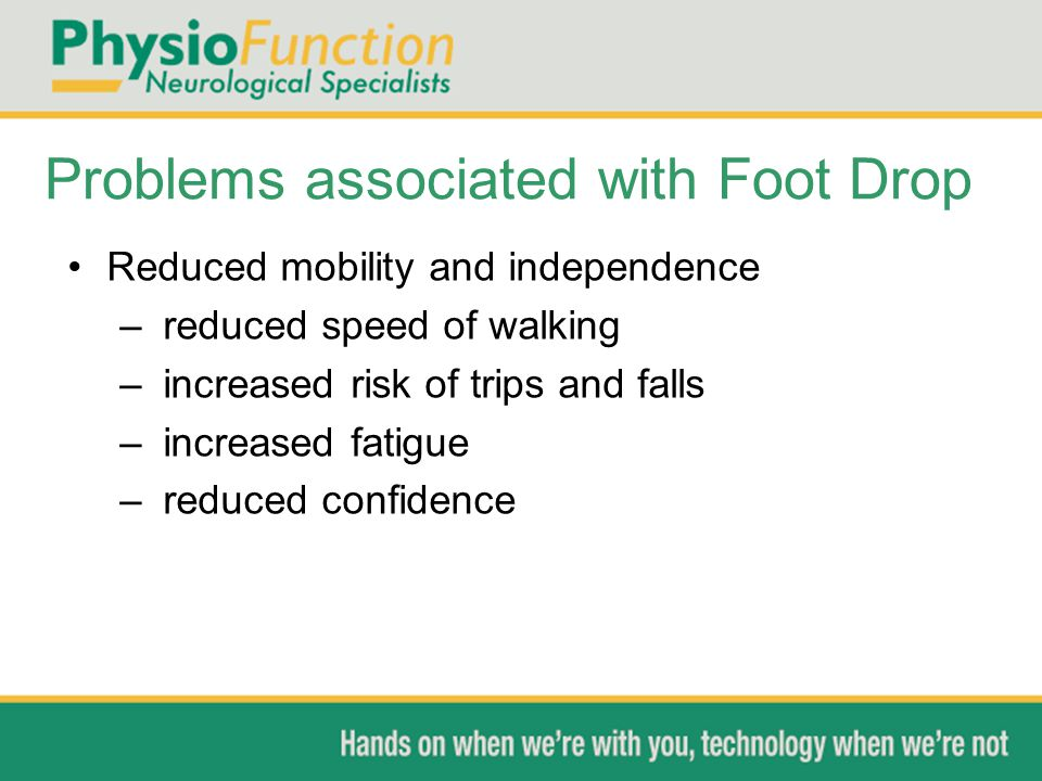Problems associated with Foot Drop