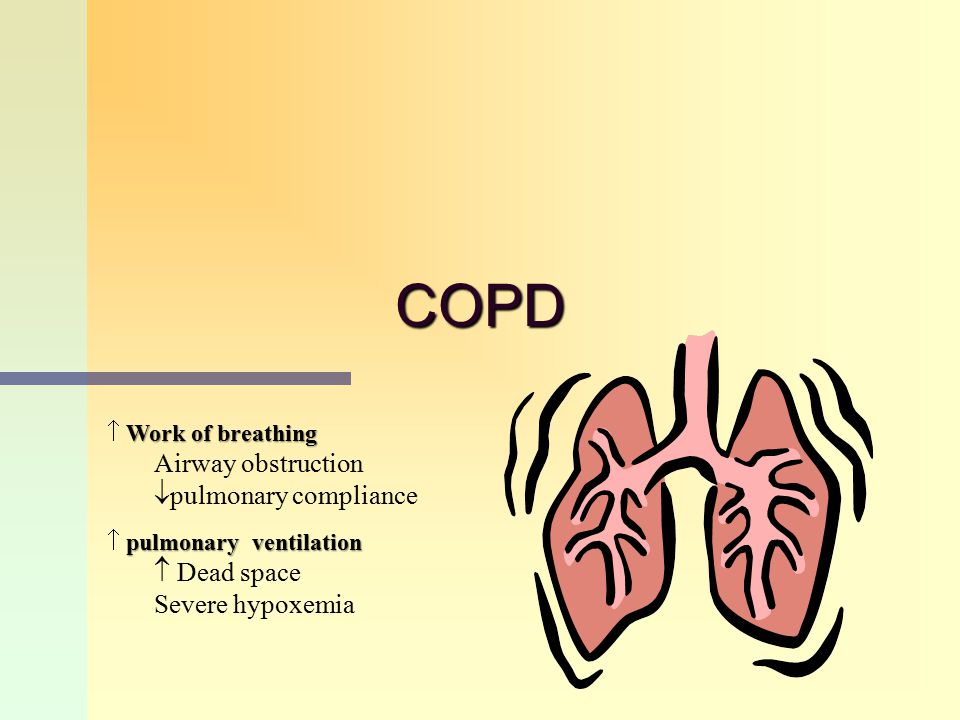 COPD Airway obstruction pulmonary compliance  Dead space