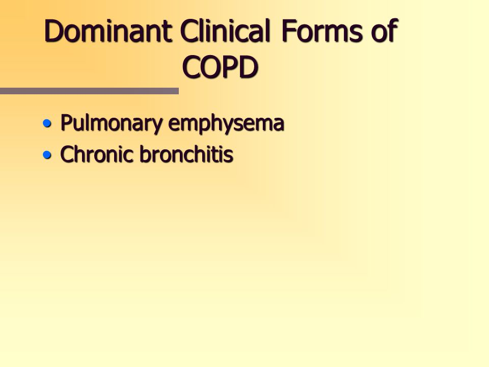 Dominant Clinical Forms of COPD