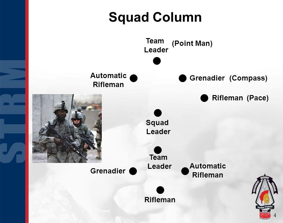 Squad Column Team Leader Automatic Rifleman Grenadier Squad