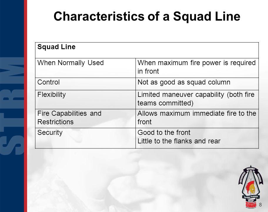 Characteristics of a Squad Line