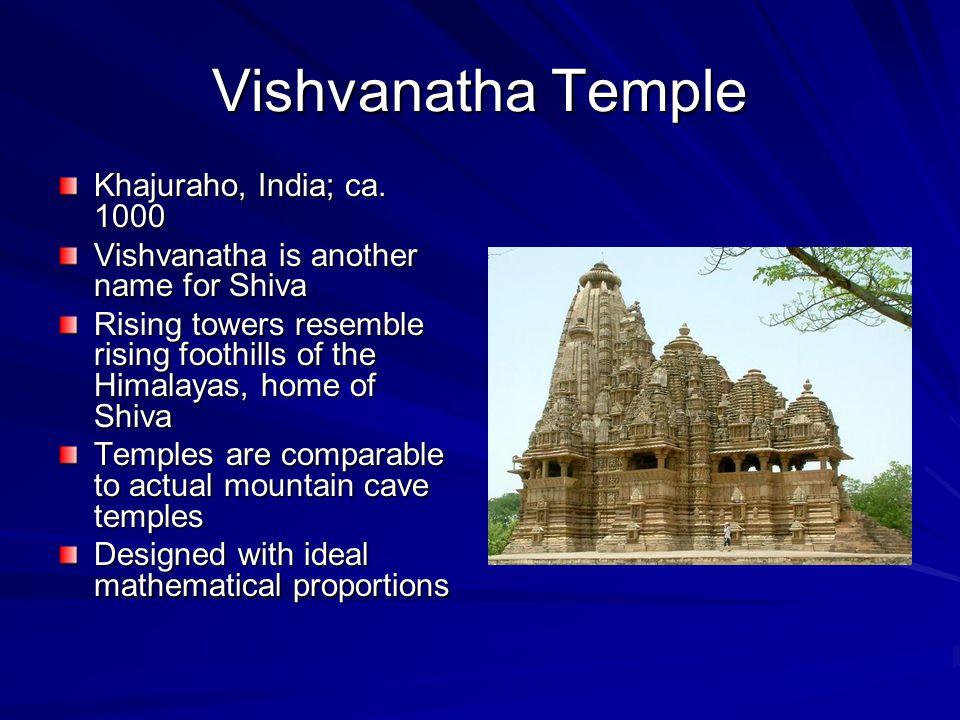 Vishvanatha Temple Khajuraho, India; ca. 1000
