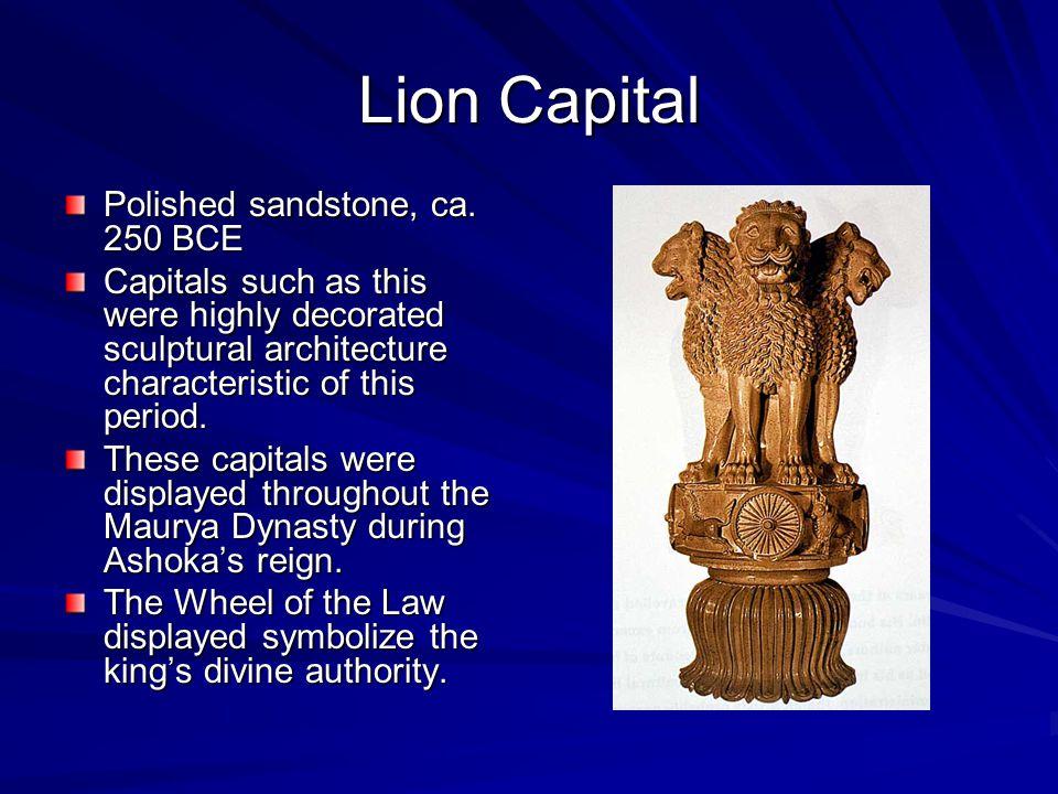 Lion Capital Polished sandstone, ca. 250 BCE