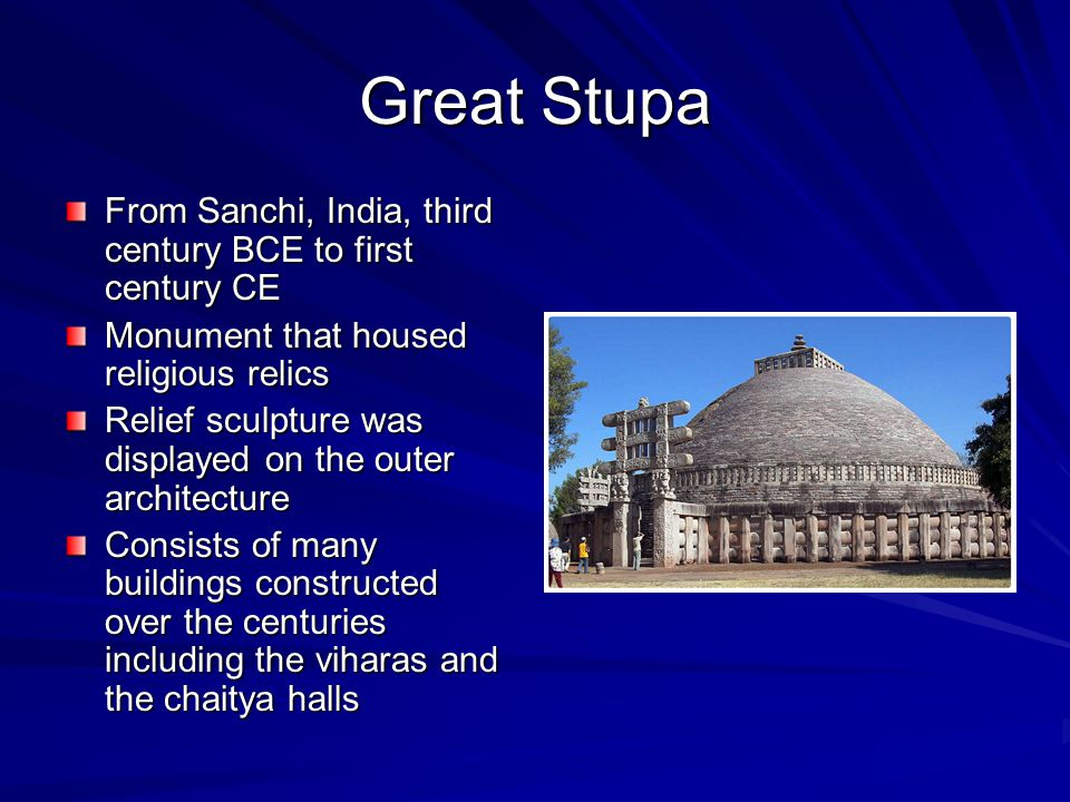 Great Stupa From Sanchi, India, third century BCE to first century CE