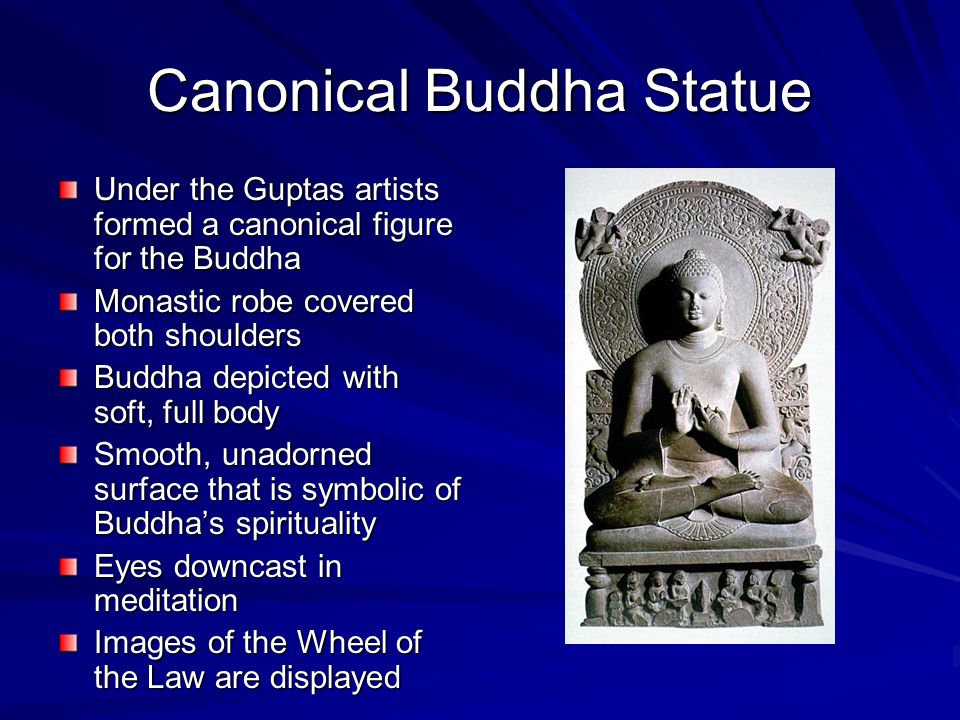 Canonical Buddha Statue