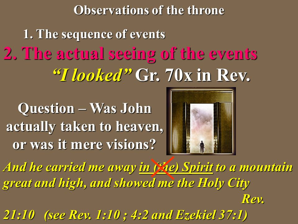 Question – Was John actually taken to heaven, or was it mere visions