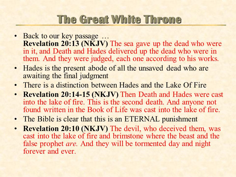 The Great White Throne
