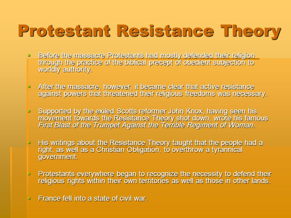 Protestant Resistance Theory