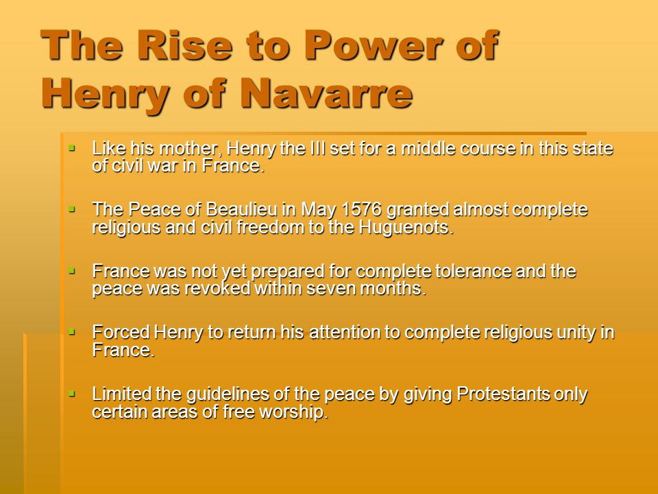 The Rise to Power of Henry of Navarre