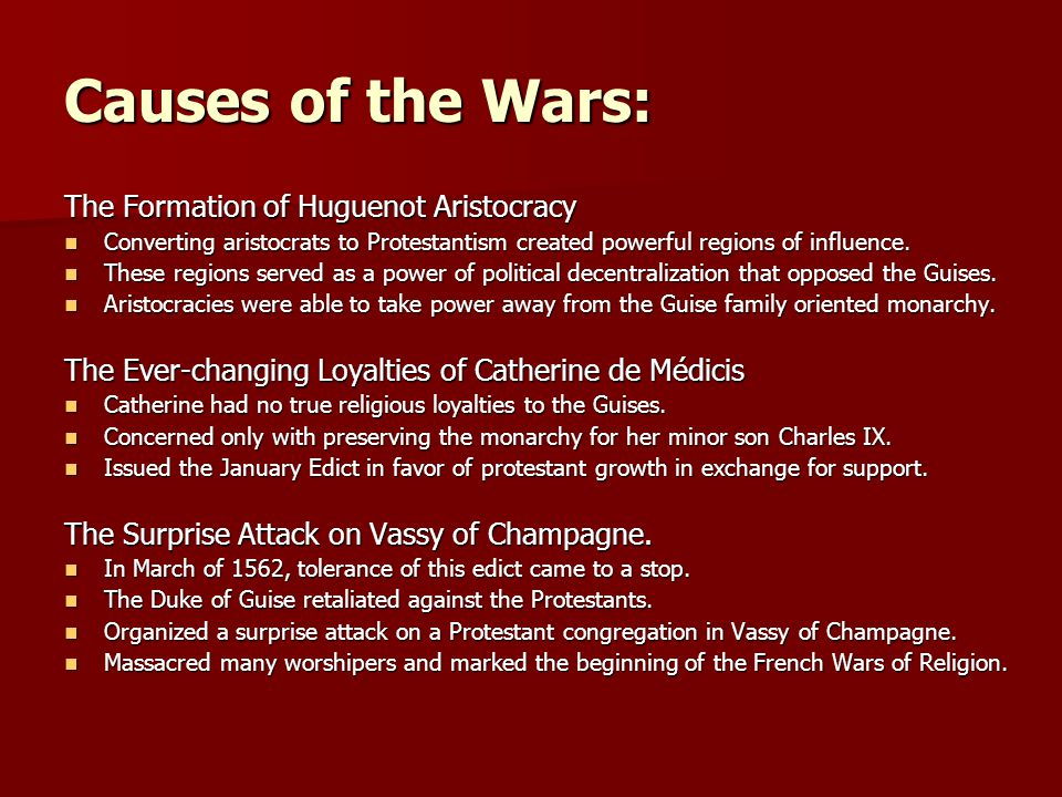 Causes of the Wars: The Formation of Huguenot Aristocracy