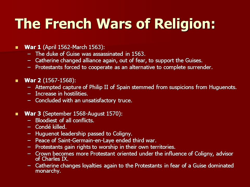The French Wars of Religion: