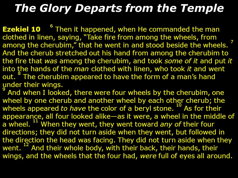 The Glory Departs from the Temple