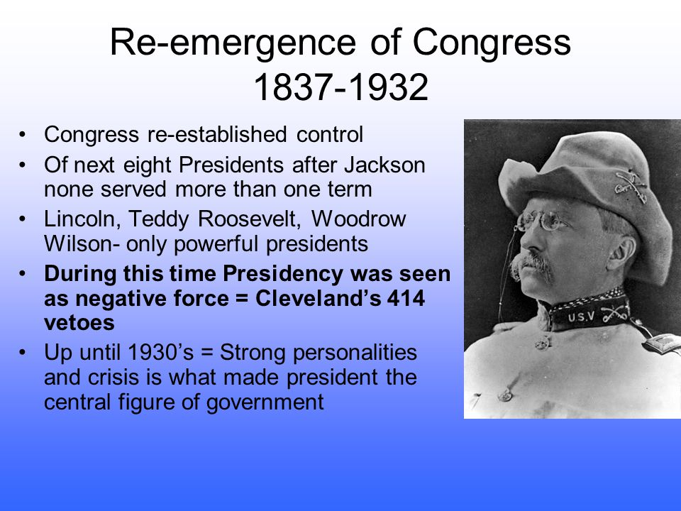 Re-emergence of Congress 1837-1932
