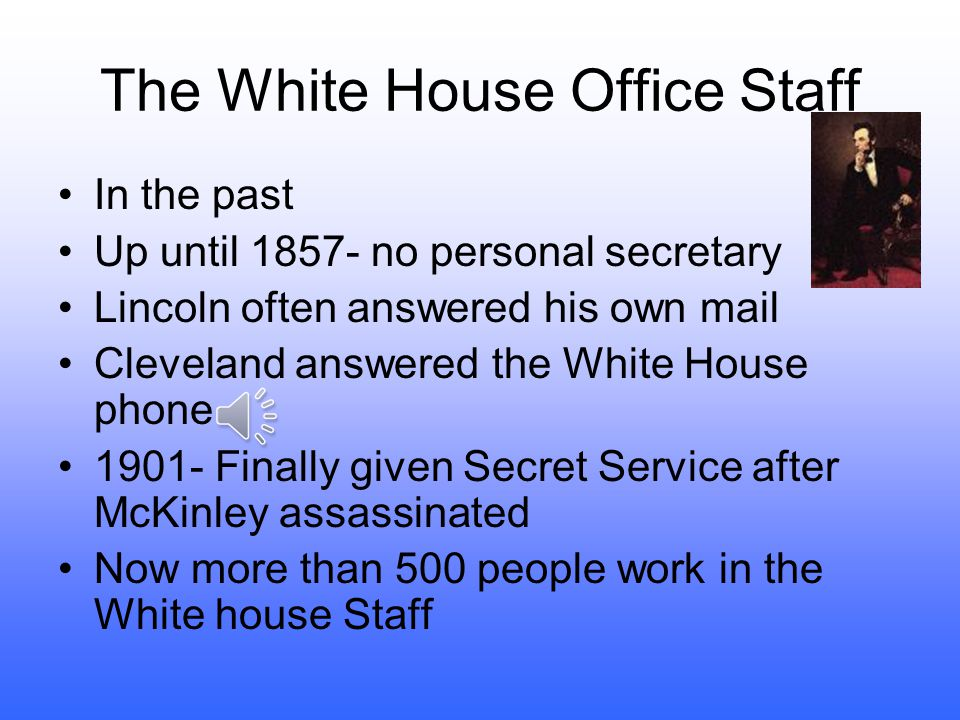 The White House Office Staff