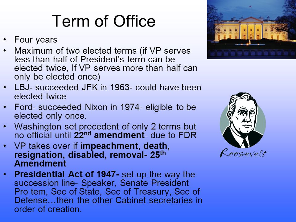 Term of Office Four years
