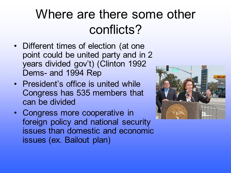 Where are there some other conflicts