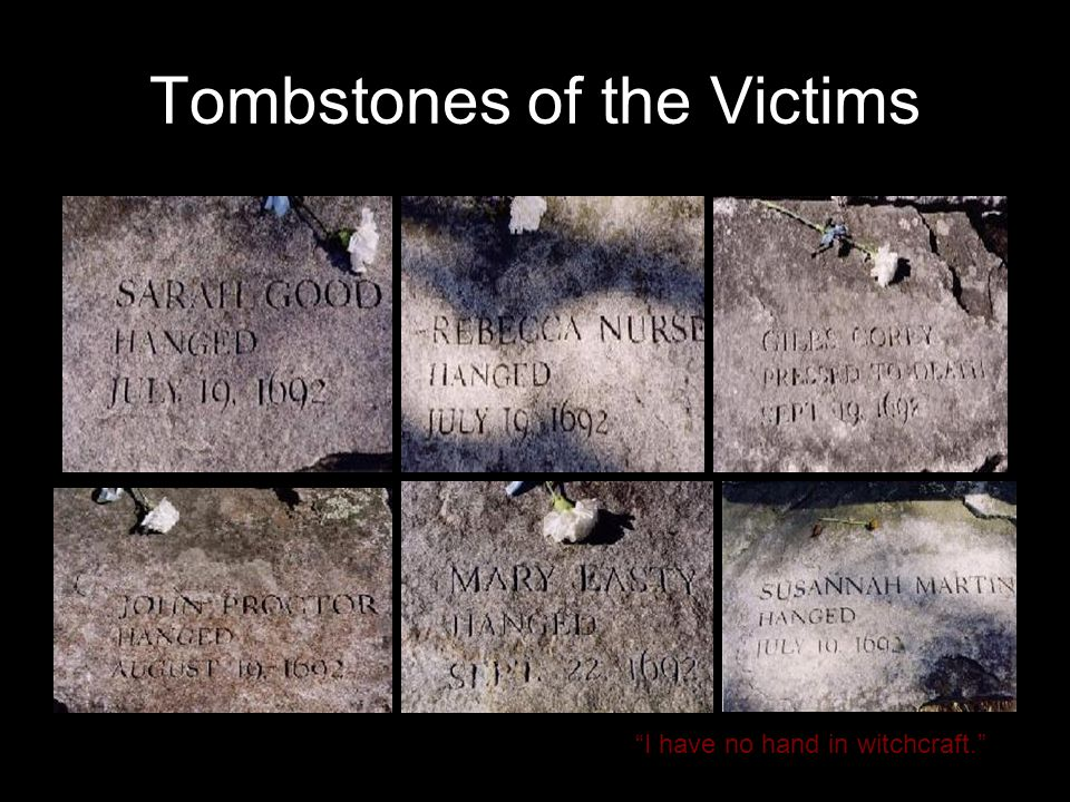 Tombstones of the Victims
