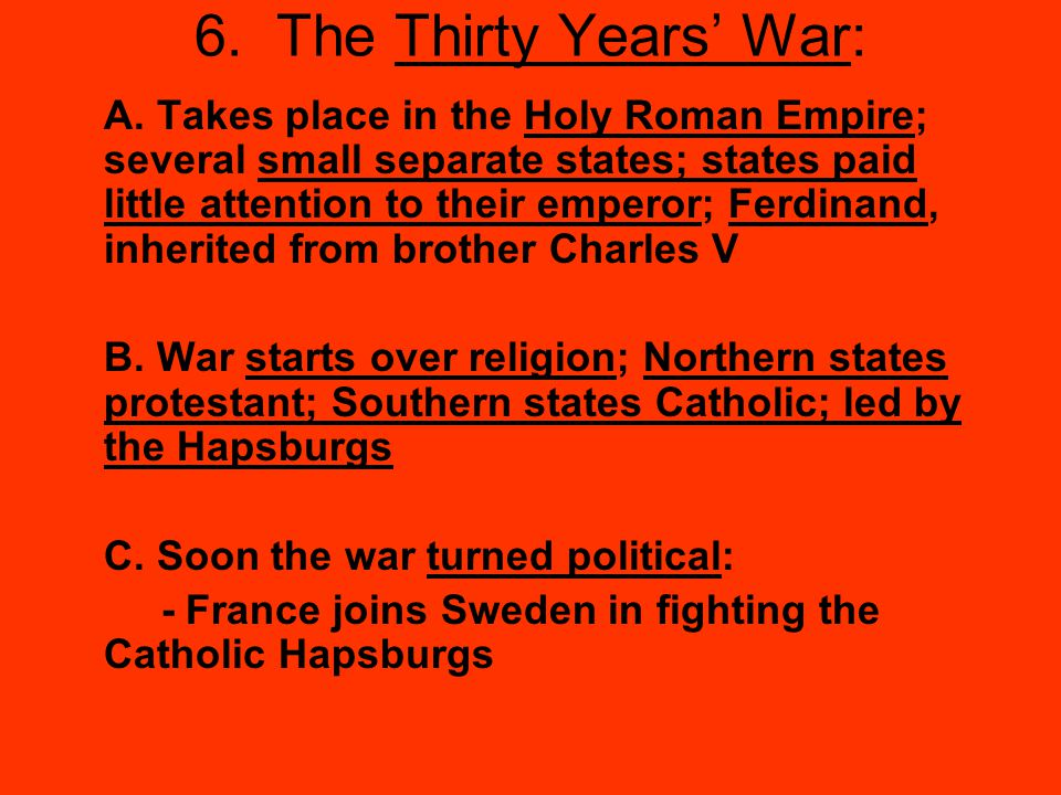 6. The Thirty Years' War:
