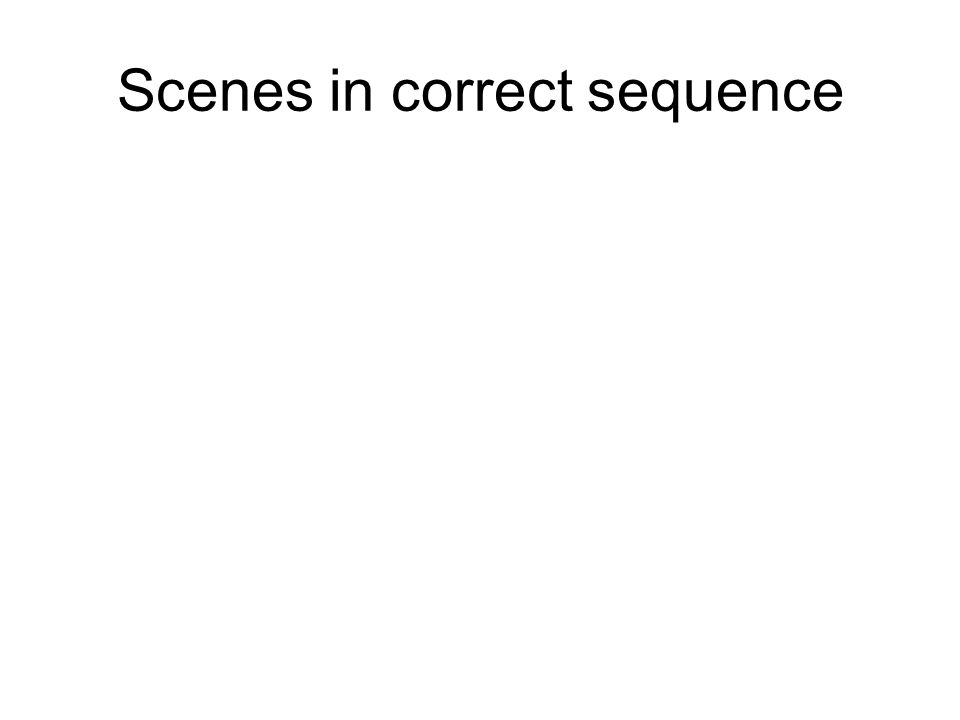 Scenes in correct sequence