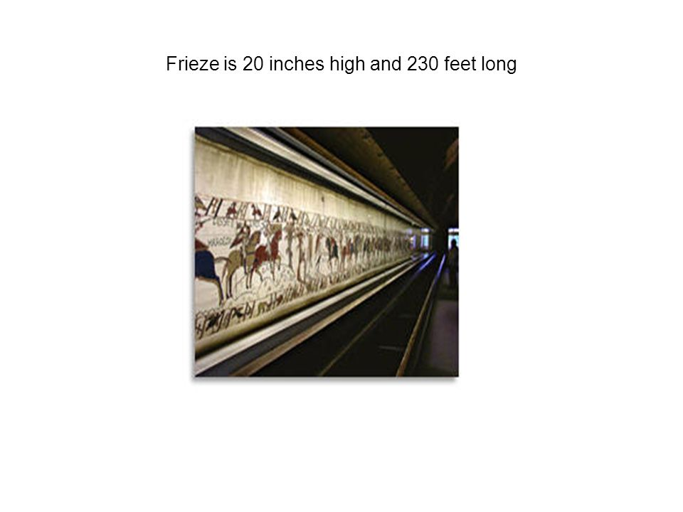 Frieze is 20 inches high and 230 feet long