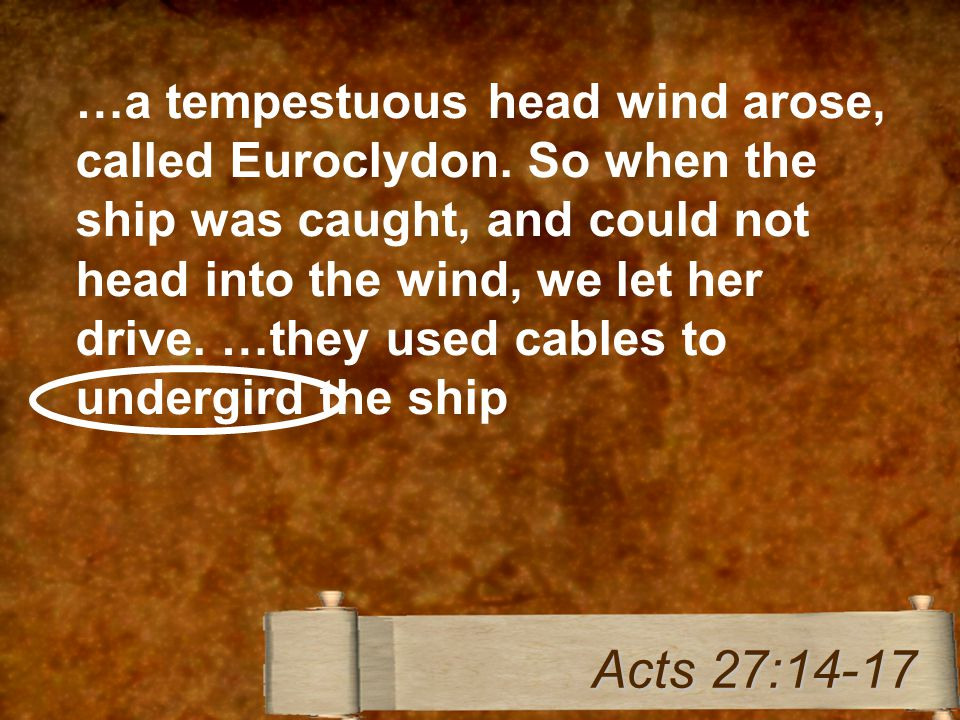 …a tempestuous head wind arose, called Euroclydon