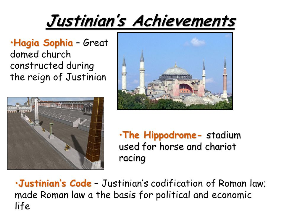 Justinian's Achievements