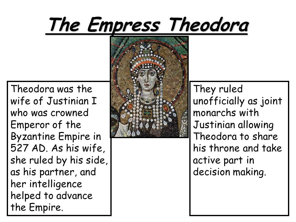 The Empress Theodora