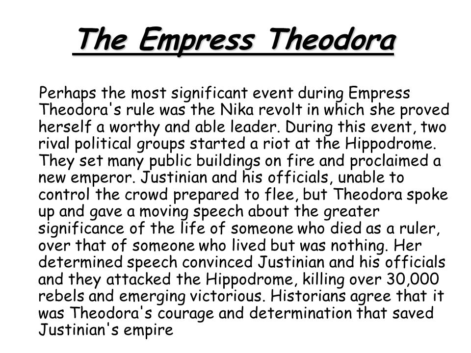 The Empress Theodora
