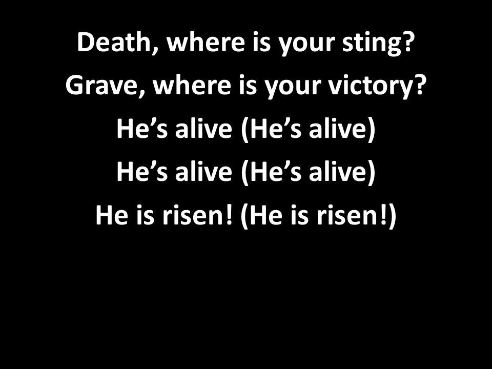 Death, where is your sting. Grave, where is your victory