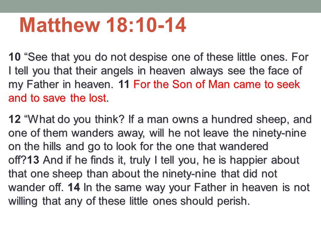 Matthew 18:10-14