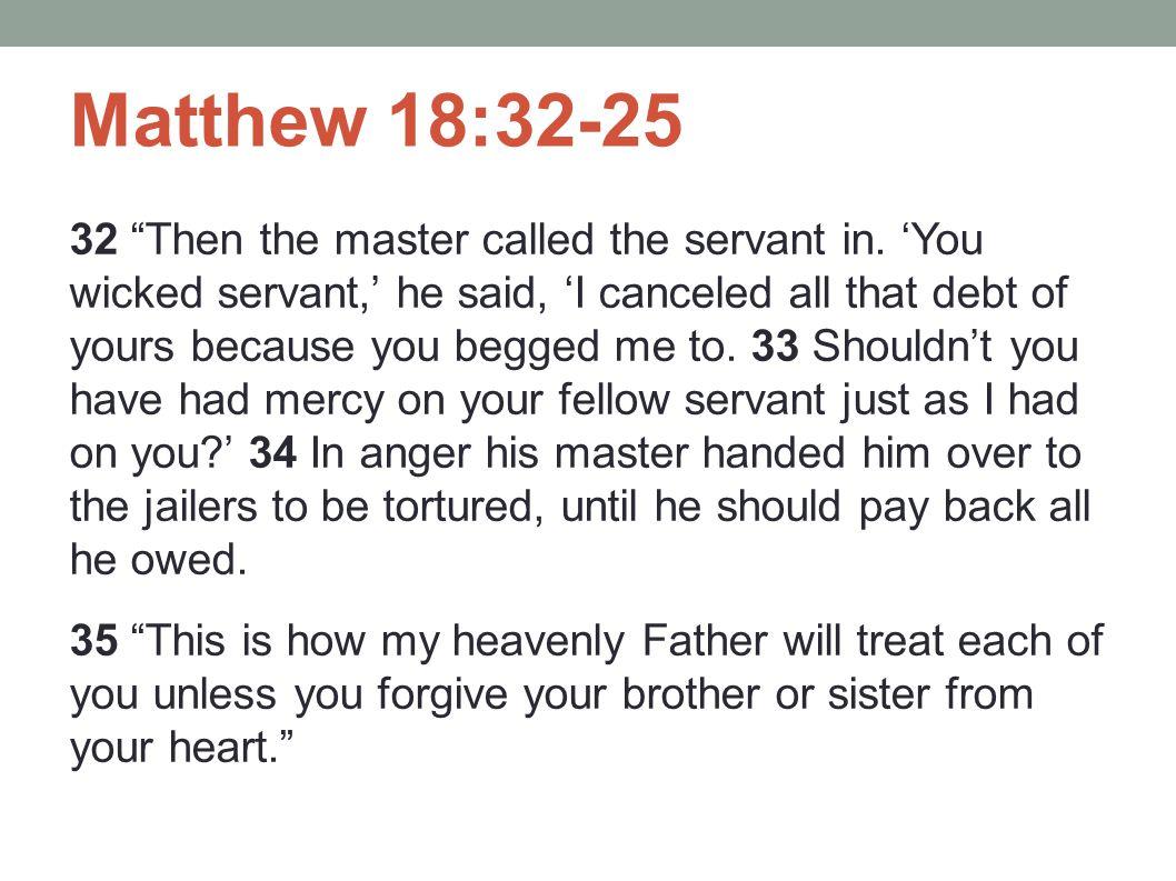 Matthew 18:32-25