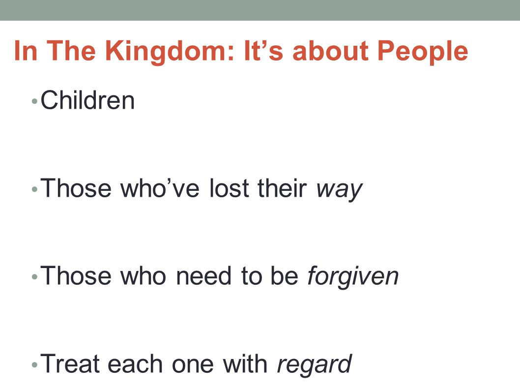 In The Kingdom: It's about People