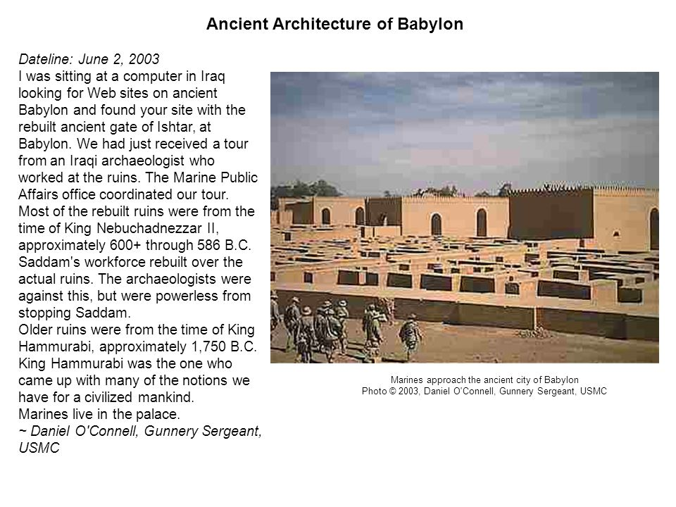 Ancient Architecture of Babylon