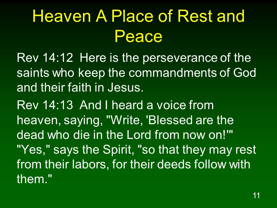 Heaven A Place of Rest and Peace