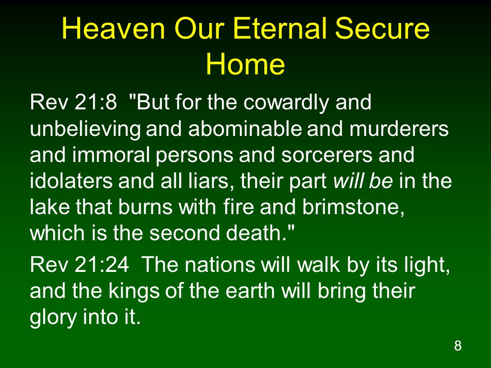 Heaven Our Eternal Secure Home