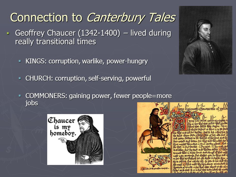 Connection to Canterbury Tales