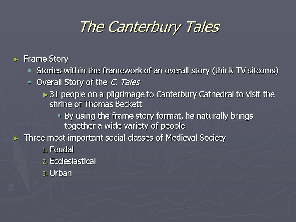 The Canterbury Tales Frame Story