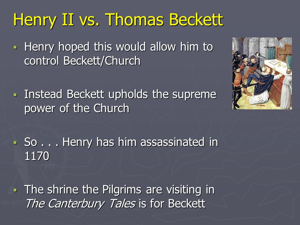 Henry II vs. Thomas Beckett