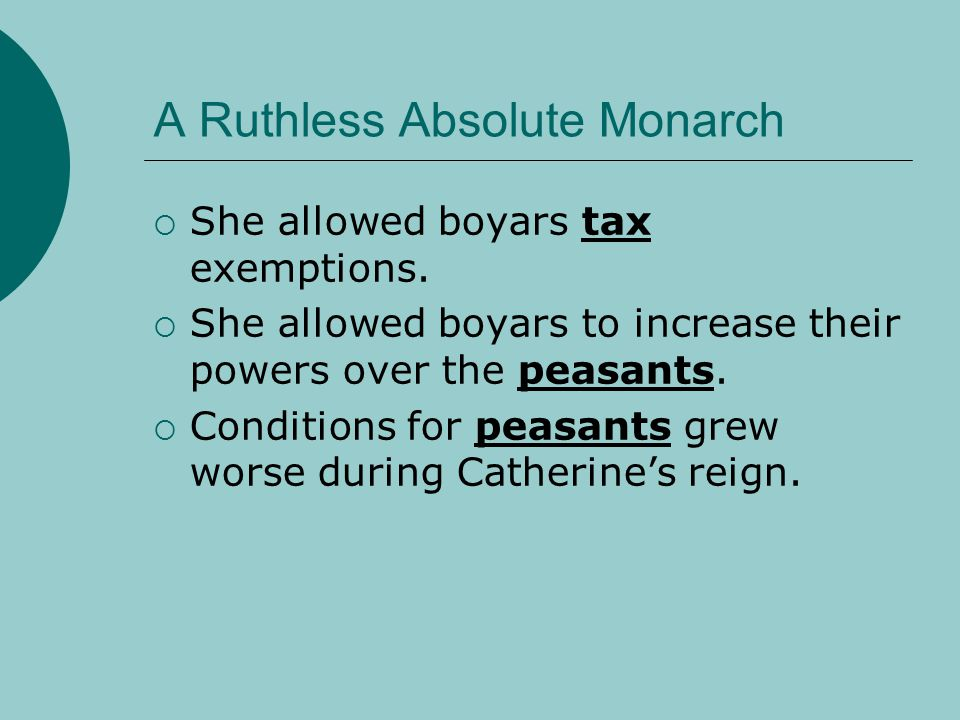 A Ruthless Absolute Monarch