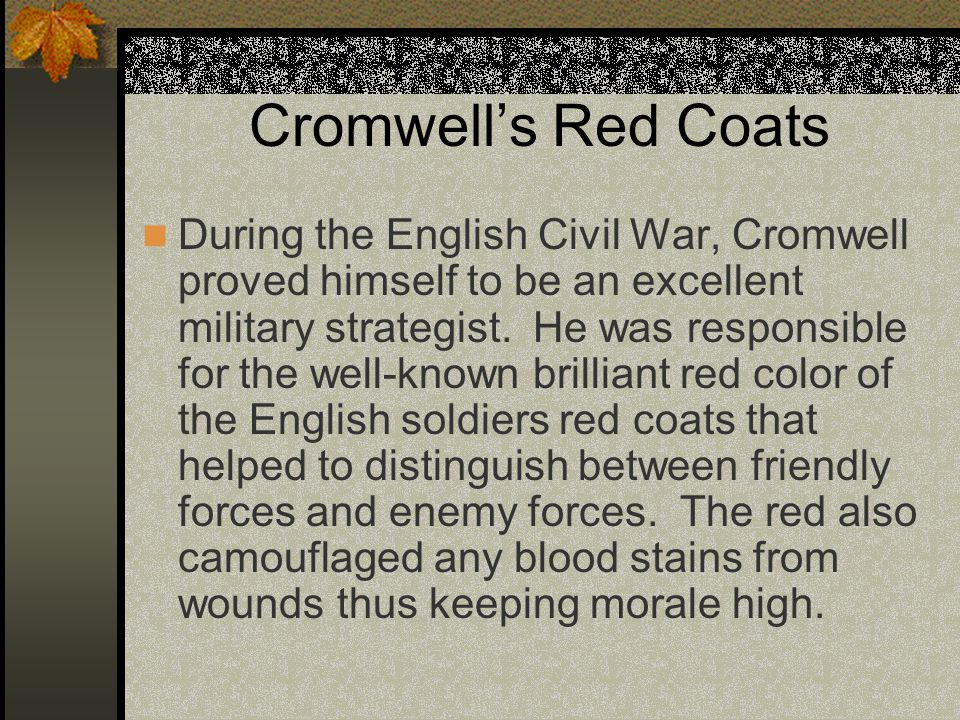Cromwell's Red Coats