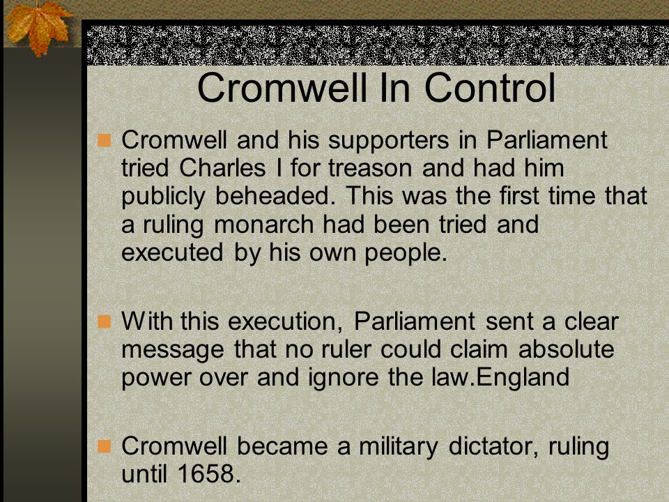 Cromwell In Control